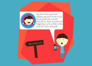 最近注目を集めているGifiを用いると、ある場所を訪れた友人に対し、サプライズでお金を贈ることができる。