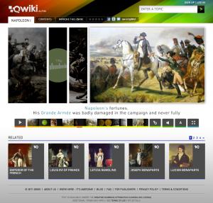 図3. Qwikiで「ナポレオン」を調べる