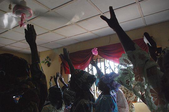 2009年10月25日 イフェ、イロデ地区のプロテスタント教会にて